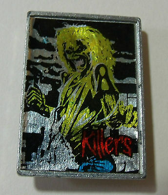 IRON MAIDEN pin Badge Rare Heavy Metal Music Memorabilia Killers Vintage