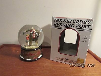 The Saturday Evening Post Norman Rockwell Snow Globe  THE CHRISTMAS GIFT