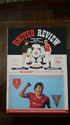 Manchester United V Barcelona European Cup Winners Cup 1984