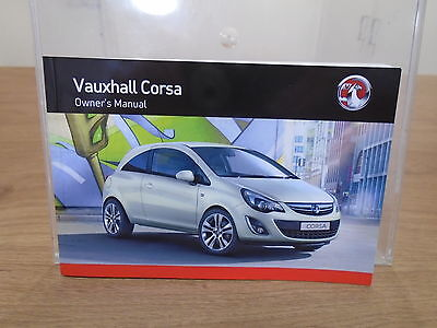 Genuine Vauxhall Corsa D Owners Manual