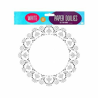 """60 x 9.5"""" Paper Party Doilies Doily Lace Doyleys Catering Wedding Coasters Round"""