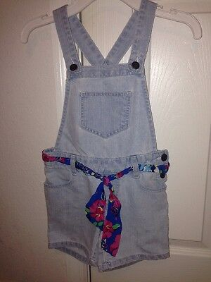 The Children's Place Girls Toddler Denim Romper Size 5 Used