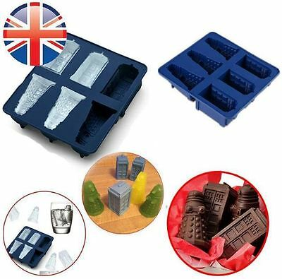 Silicone Doctor Who Tardis & Dalek Chocolate or Ice Cube Tray Mould