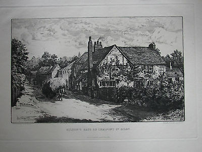Edward Slocombe , 1850 - 1915 . Milton´s Cottage Chalfont St. Giles 1883