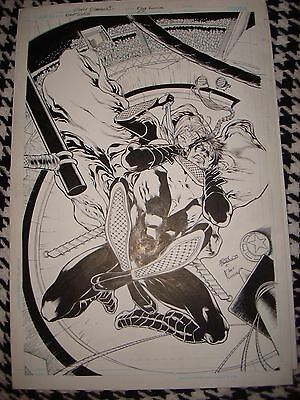 Nightwing N# 1 Eddy Barrows Scare Unpublished Cover Original Art Work Signed