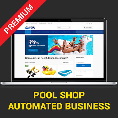 Automated Pool Store - Affiliate Business Website For Sale