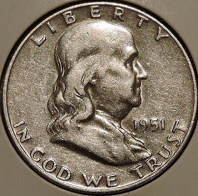 Franklin Half Dollar - 1951-D - Historic Silver! - $1 Unlimited Shipping