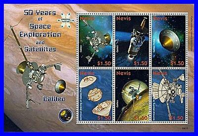 Nevis 2008 Space Exploration M/s Galileo Sc#1542 Mnh Cv$7.00 Astronomy