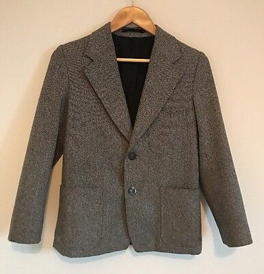 TRUTEX Equestrian Riding Showing Jacket Grey Wool Size 10