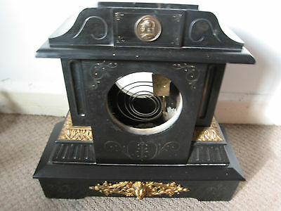 Antique Victorian Spare French Slate Clock Case