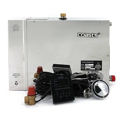 Coasts 12KW 240V with KS-150 Controller Steam Generator for Home Business Saunas