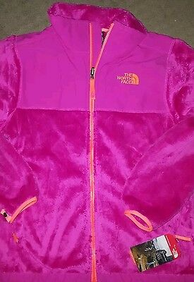 NWT Girls North Face Denali Fleece Jacket Coat Youth Luminous Pink XL18 NEW