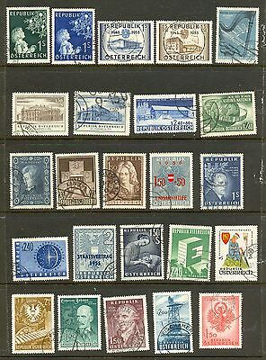 Austria   24  Fine  Used  Lovely  Clean  Commemoratives