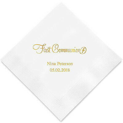 Personalized First Communion Printed Party Napkins Q17047