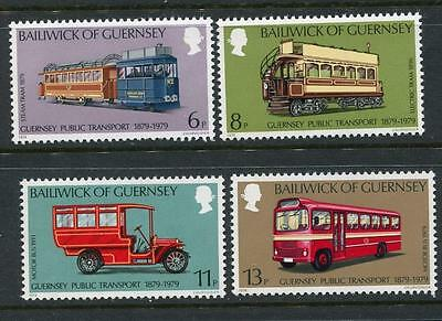 Guernsey: 1979 History of Public Transport Trams set of 4 SG203-206 MNH X293