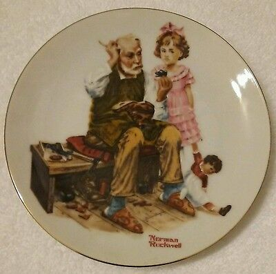 Norman Rockwell Plate - The Cobbler - Limited Edition 1982