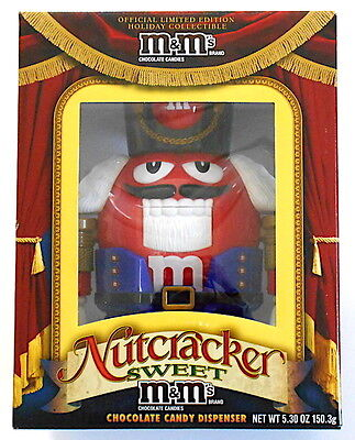 M&M's RED Nutcracker Sweet Limited Edition Collectible Candy Dispenser NEW