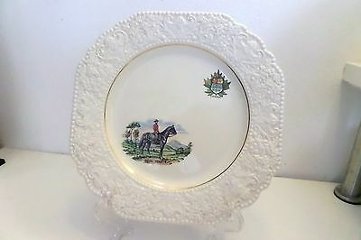 James Kent Stafforshire Canada Mountie Horse Porcelain Plate