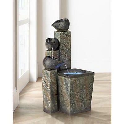 ZEN Style Tiered LED Water Pond Indoor Outdoor Fountain