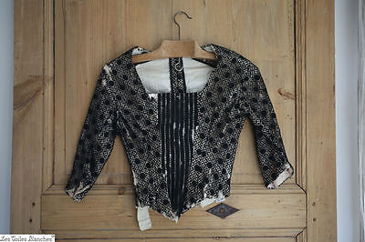 Antique French COUTURE woman BODICE silk LACE CORSET c 1900