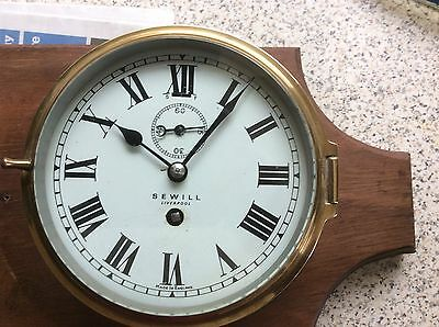 Sewell Of Liverpool Ships Clock (Blue Funnel Line )