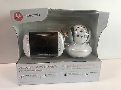 Motorola MBP36S Remote Wireless Video Baby Monitor W/ 2 Camera's