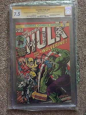 ⭐Incredible Hulk 181 7.5 SS X4 Lee, Wein, Romita & Signed & Sketched By Trimpe⭐