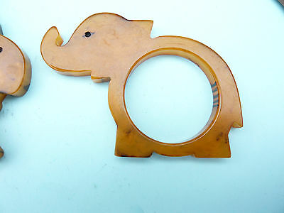 "Vintage Phenolic Resin Catalin Art Deco Napkin Ring  ""elephant"""