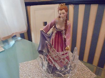 franklin mint princess of the glass mountain figurine/ statue, glass stand