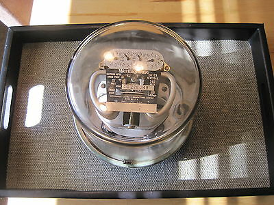 Vintage Westinghouse Type CS Watt Hour Electric Meter 15amp 240 volt Steampunk