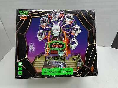 Lemax Spooky Town Wheel Of Horror Lighted, Animated Musical  Halloween Decor