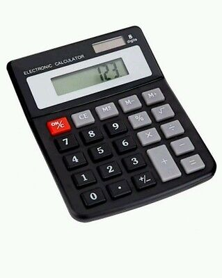 Home & Office Dual Power Electronic Calculator - Solar & Battery Powered