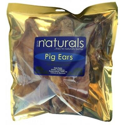 Anco Naturals Pig Ears 100% Natural Healthy Dog Treat Chew 5 Pack