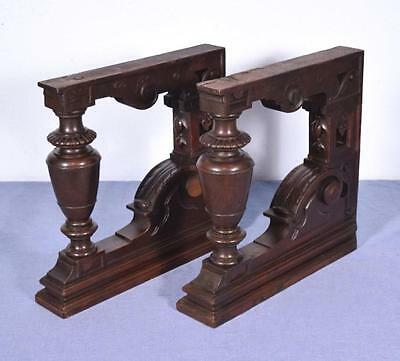 *French Antique Solid Walnut Wood Pedestals/Posts/Supports Salvage