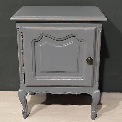 French Bedside Table Cabinet Chest Oak Shabby Chic