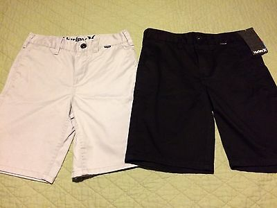 ☀️ NWT Hurley Black Boys Size 10 Shorts & EUC Grey Lot