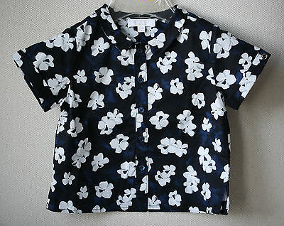 Gucci Navy Hawaiian Baby Shirt 3-6 Months