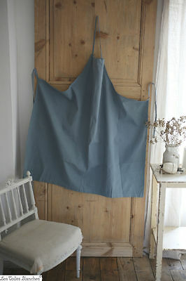 Vintage French APRON DYED LINEN COTTON mix C 1940