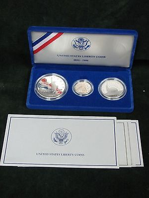 1986 Liberty 3 Piece Commemorative Proof Set