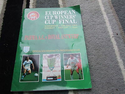 Parma A.c. V Royal Natwerp  1993 European Cup Winners Cup Final @ Wembley