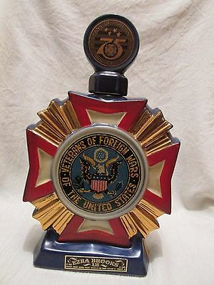 Vintage Ezra Brooks Heritage China Decanter - Veterans of Foreign Wars