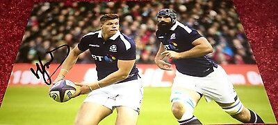"""Huw Jones signed Scotland rugby rugby 12x8"""" photo / COA"""