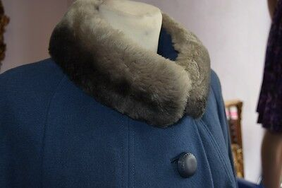 1950's Wool Coat with faux Fur Collar