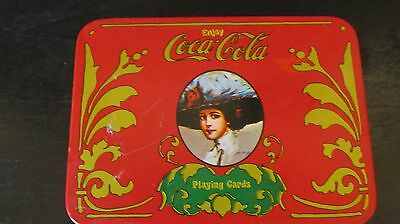 Vintage Coca Cola Playing Cards In Tin