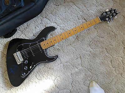 Dean Bel Aire Solid Body  Electric Guitar, black, 1983, made in USA