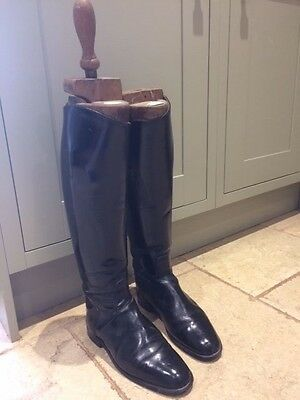 Black leather riding boots Hawkins size 6