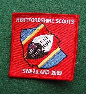 Hertfordshire Scouts, Swaziland 2009 Patch/Cloth Badge - Boy Scouts - UK