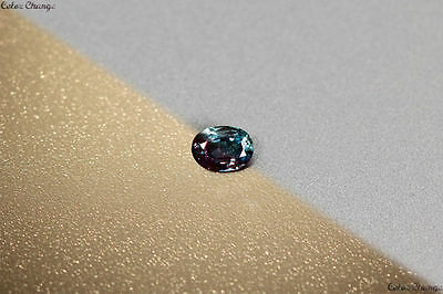 0.120 Ct Unique 100% Nr' Dancing Color Change Alexandrite Gemstone Aaa Oval~!!!!