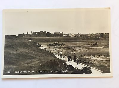 Holy Island Priory And Village Postcard