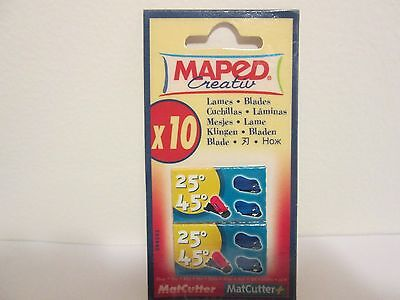 Maped Blades for Mat Cutter 25 & 45 Degrees #PL094593-2   10 pieces